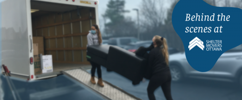 Women loading furniture onto truck