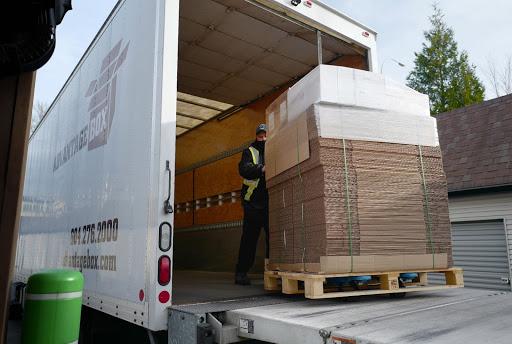 Boxes on Advantage Box Company truck