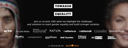 Towards Equality title image with CTA to join us on June 18th